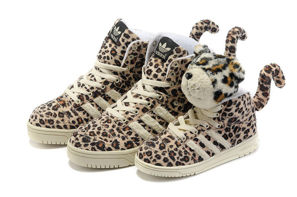 Adidas JS Leopard Tail High Top Shoes. Изображение № 6.