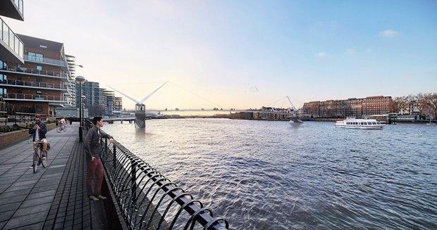 Выложены 74 проекта нового моста через Темзу. Изображение № 47.