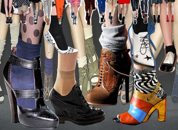 Тянем носок: Носки в осенне-зимних коллекциях. Изображение № 33.
