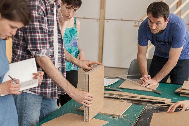 Как сделать из толстого картона абажур для лампы . Изображение № 11.