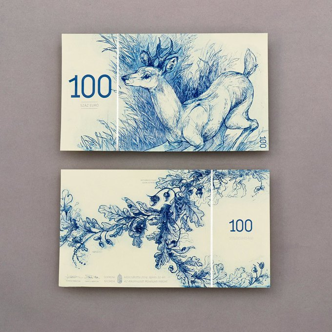Концепт дня: банкноты несуществующих венгерских евро. Изображение № 8.