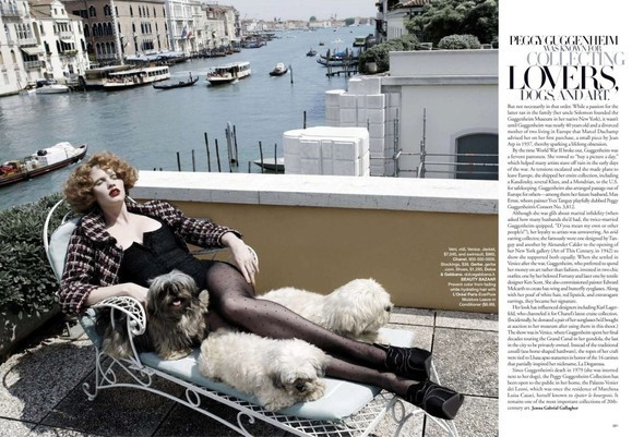 Lara Stone: Harper's Bazaar, September 2009. Изображение № 7.