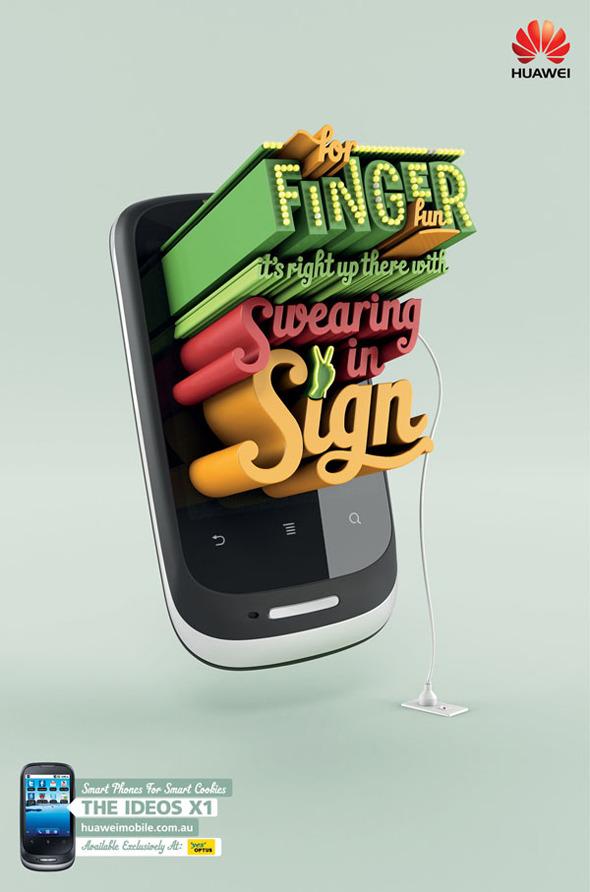 50 примеров использования типографики в рекламе. Изображение № 14.