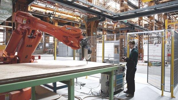 В Роттердаме робот помог возвести деревянный павильон. Изображение № 6.