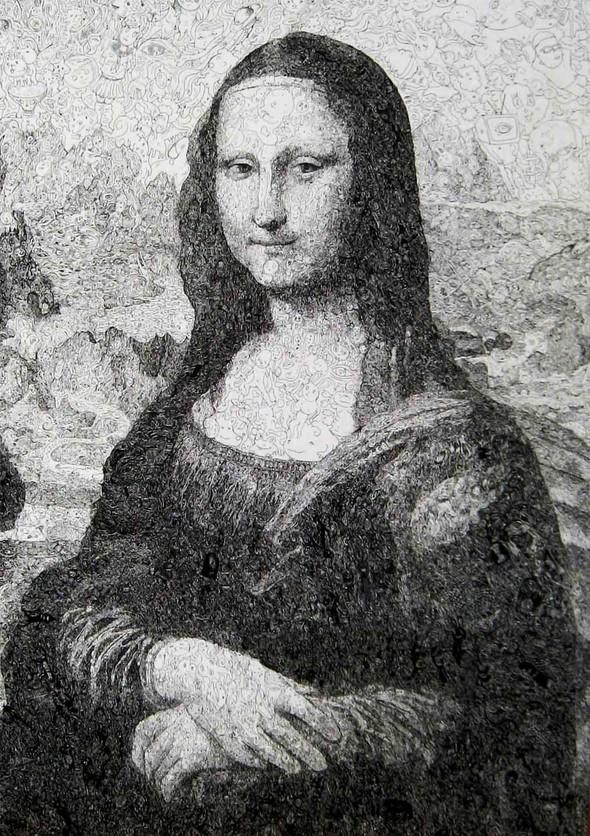 Мона Лиза из котиков или искусство по-японски. Изображение № 1.