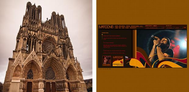 Реймсский собор (1211) и Maroon5.com (2005). Изображение № 4.