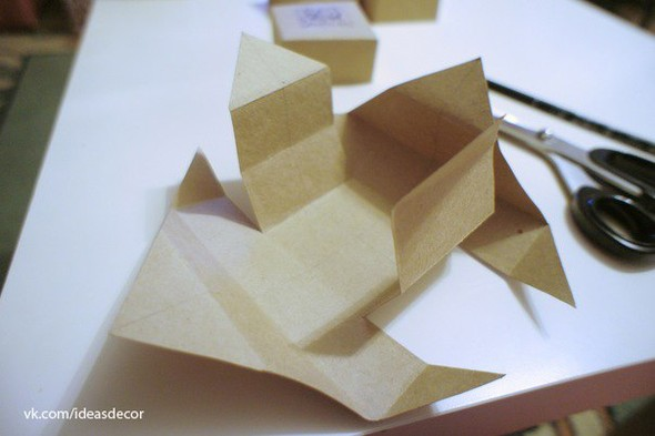 Простая подарочная коробочка, без использования клея. Изображение № 6.