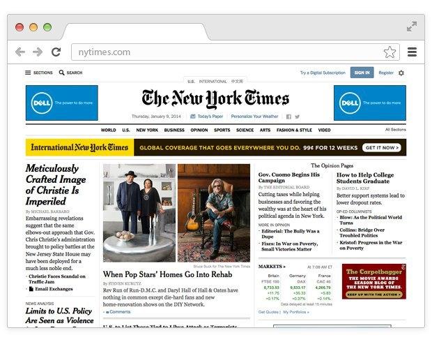 Редизайн сайта NYT:  Илья Рудерман о преимуществах обновления. Изображение № 1.