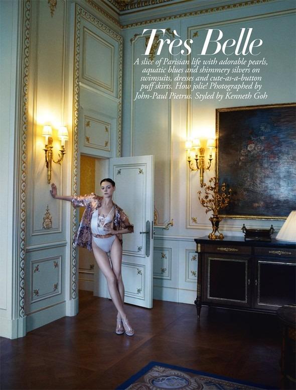 Kinga Rajzak by John-Paul Pietrus in Chanel for Harpers Bazaar. Изображение № 3.