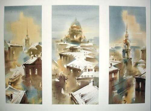 Петербургские акварели Константина Куземы. Изображение № 9.