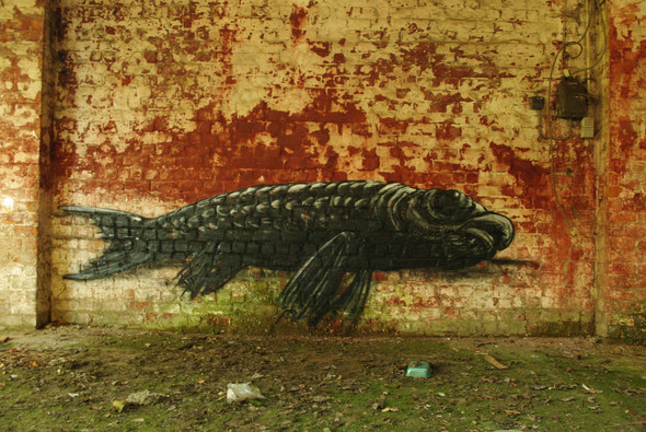 Животный стрит-арт от бельгийского граффитчика ROA. Изображение № 15.