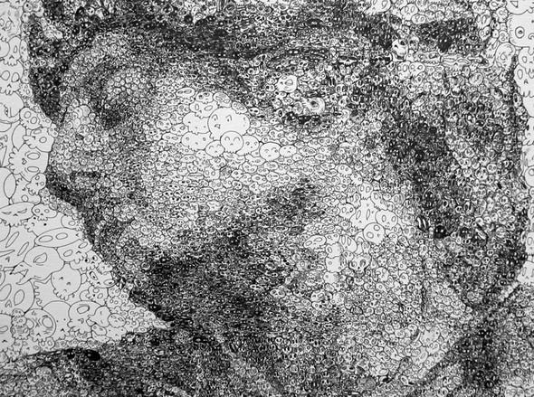 Мона Лиза из котиков или искусство по-японски. Изображение № 11.