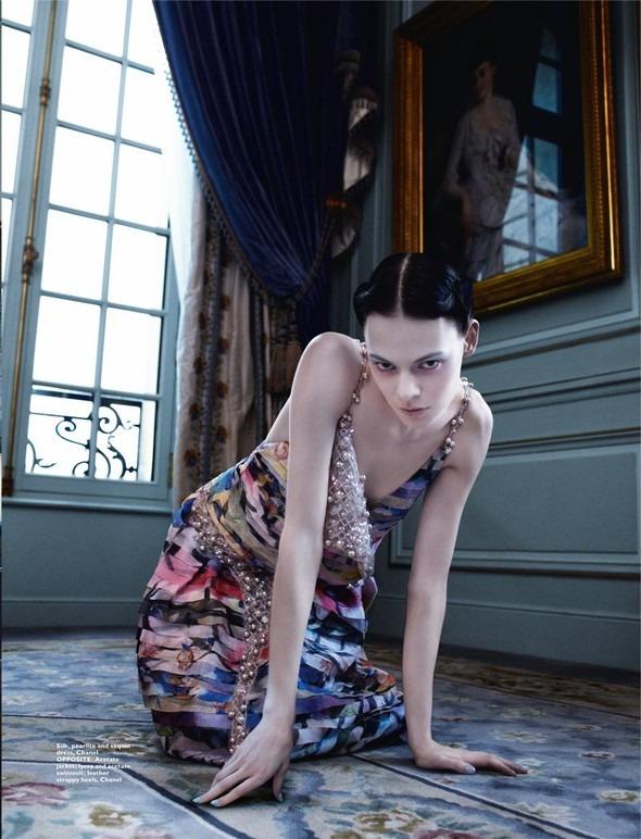 Kinga Rajzak by John-Paul Pietrus in Chanel for Harpers Bazaar. Изображение № 4.
