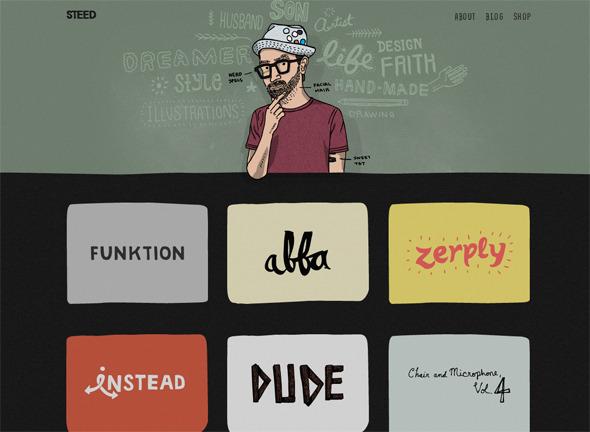 Ручная работа. Дизайн сайтов с рисованными элементами. Изображение № 11.