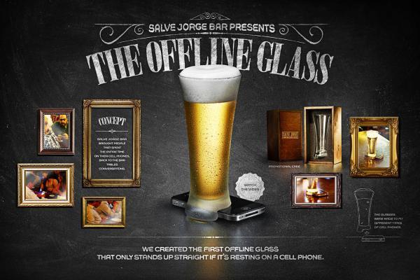 В Бразилии представили офлайн-стакан для пива. Изображение № 1.