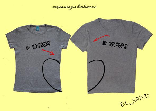 Elsaharova: половинчатые футболки на 14 февраля. Изображение № 13.