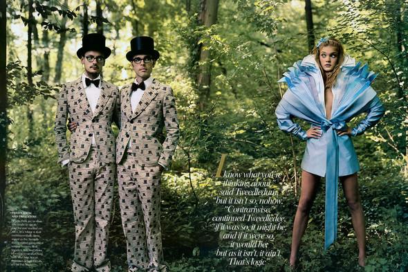 Архивная съемка: Наталья Водянова для американского Vogue 2003. Изображение № 10.