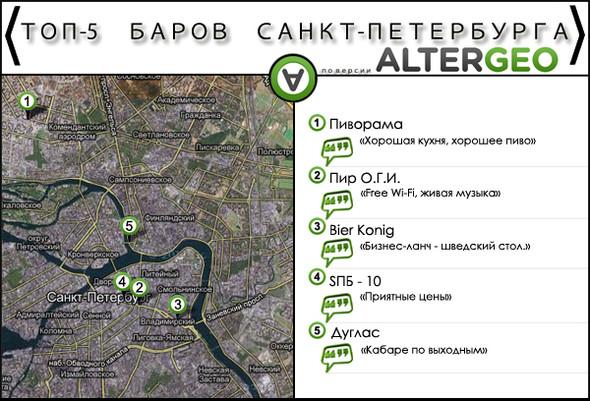 Самые модные места Петербурга в отечественном геосервисе. Изображение № 2.