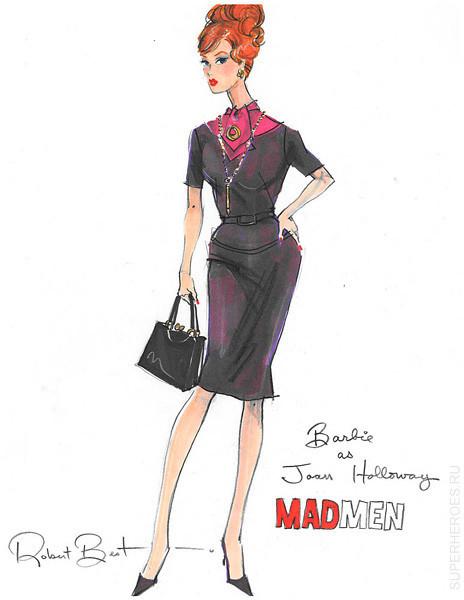 Куклы Барби по сериалу Mad Men. Изображение № 4.