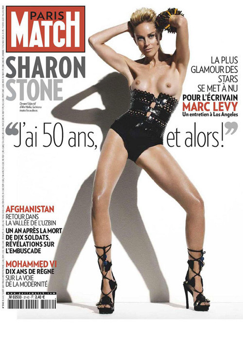 Sharon Stone for Paris Match. Изображение № 1.