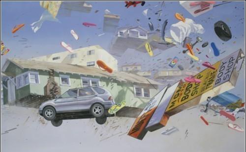 Летающие беспорядки накартинах Адама Цвияновича. Изображение № 4.