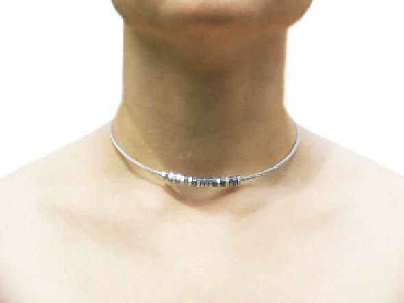Ожерелья из цепей гаек и сантехнического шнура. Часть1. Изображение № 5.