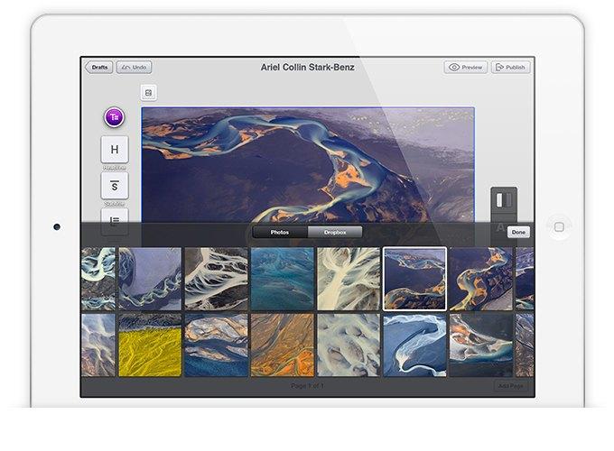 Издательская платформа Stampsy для iPad. Изображение № 4.