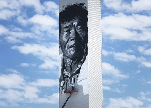 В Южной Корее появилось граффити с небоскреб. Изображение № 2.