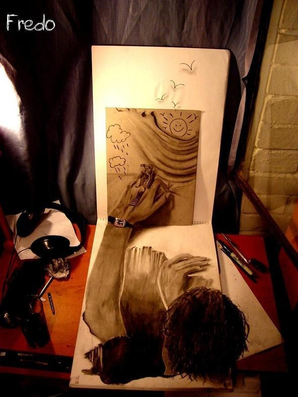 """Изображение 17. Реалистичные 3D рисунки """"в карандаше"""".. Изображение № 17."""