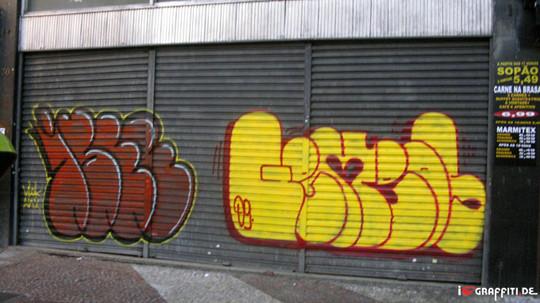 Граффити художники Os Gmeos о творческом пути. Изображение № 4.