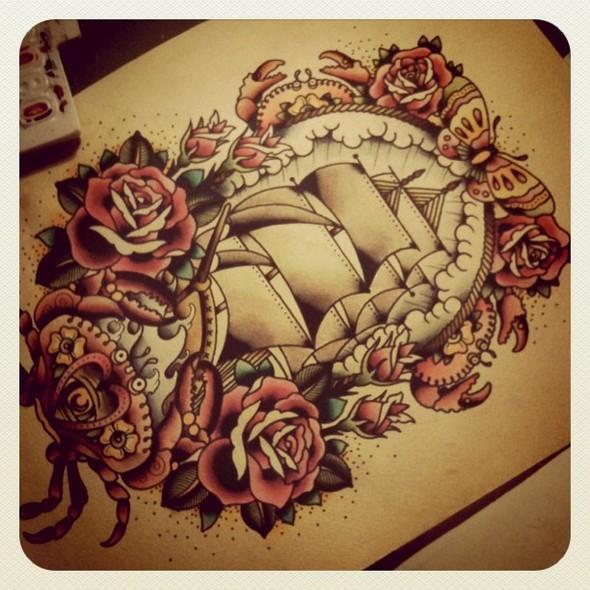 Kim-Anh Nguyen-Dinh : От рисунка к татуировке. Изображение № 9.