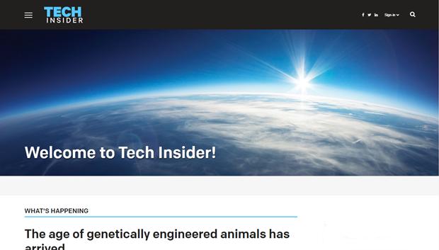 Business Insider запустил сайт онауке итехнологиях. Изображение № 1.