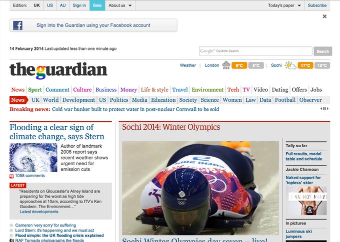 Обновленная версия The Guardian. Изображение № 2.