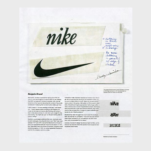 Как логотип Nike выглядел на стадии концепта. Изображение № 2.