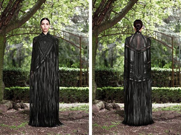 Кутюр в деталях: Маски, бисер и кожа в коллекции Givenchy. Изображение № 20.