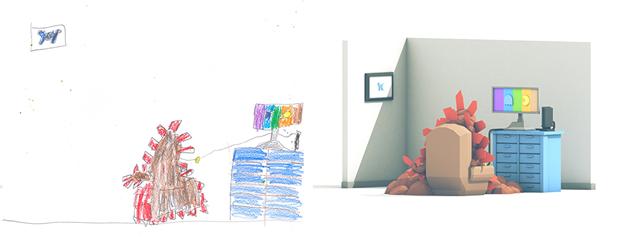 Художники создали монстров наоснове детских рисунков. Изображение № 14.