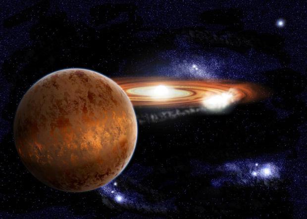 Планета Нибиру — мифическая странствующая планета в Солнечной системе. Изображение № 1.