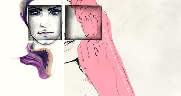 Красота женских линий припомощи двух-трех штрихов. Изображение № 25.