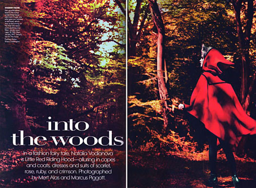 Into the Woods. Natalia Vodyanova. Vogue Sept-09. Изображение № 1.