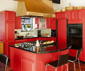 Изображение 4. Модный красный или яркое решение для кухни.. Изображение № 1.