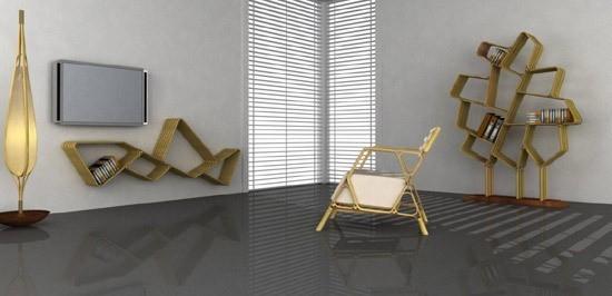 Новое решение в дизайне — бамбуковая мебельная система. Изображение № 5.