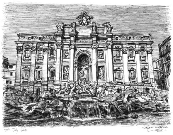 Стивен Вилтшер. Художник рисующий панорамы городов по памяти. Изображение №11.