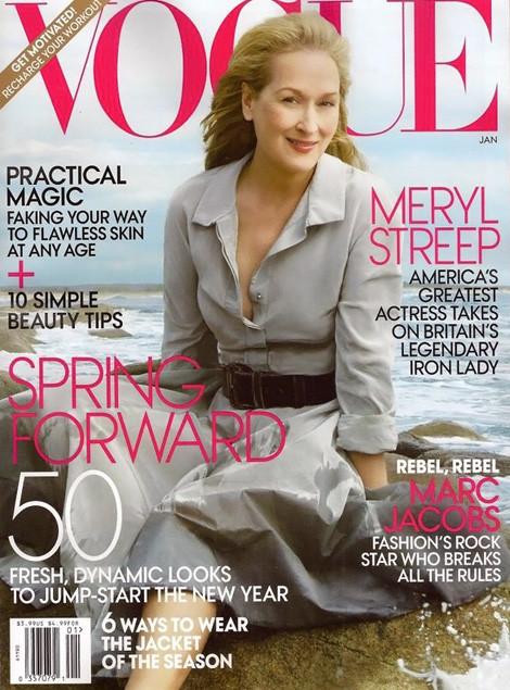 Обложка: Мерил Стрип для американского Vogue. Изображение № 1.