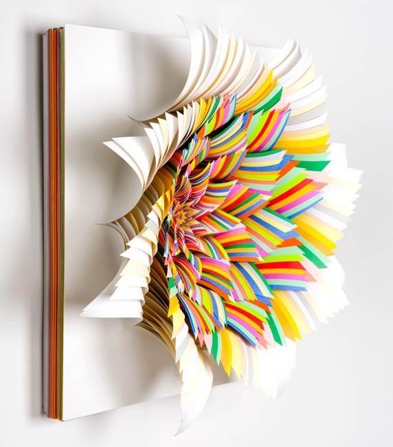 Абстракция из цветной бумаги. Изображение № 2.