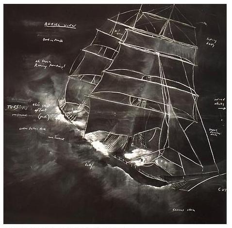 Грифельная доска какхолст: инсталляции Тациты Дин. Изображение № 4.