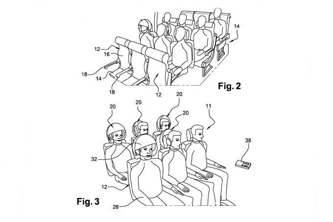 Airbus запатентовал шлем виртуальной реальности для пассажиров. Изображение № 4.