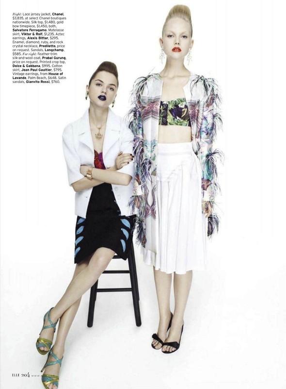 Съёмка: Раза Зукаускайте и Анне Софи Монрад для Elle. Изображение № 3.