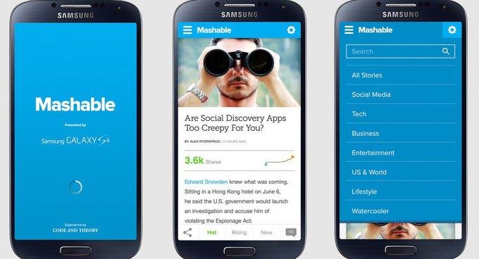 Сайт Mashable запустил своё приложение для смартфонов. Изображение № 2.