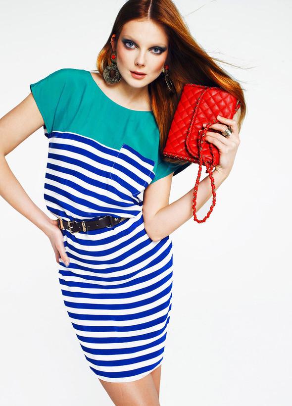 Изображение 2. Лукбук: Mango Color & Stripes.. Изображение № 2.