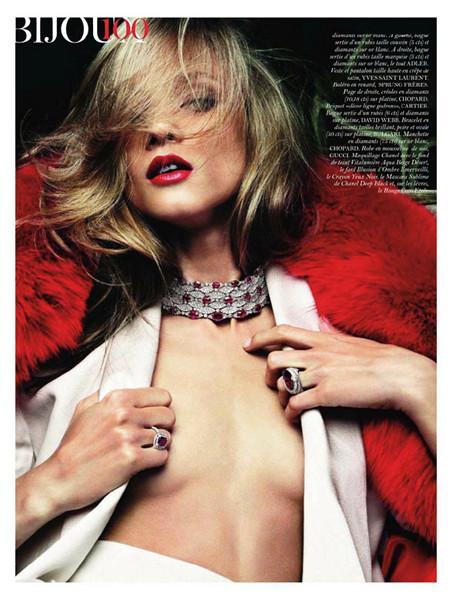 Анна Селезнёва для французского Vogue, август 2011. Изображение № 64.